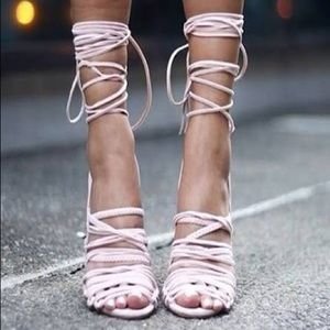 Shoes - Lace Up Gladiator Sandals